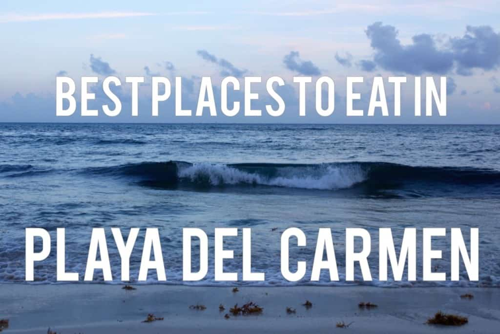 A list of the best Playa del Carmen restaurants for your next vacation including authentic Mexican and international restaurants!