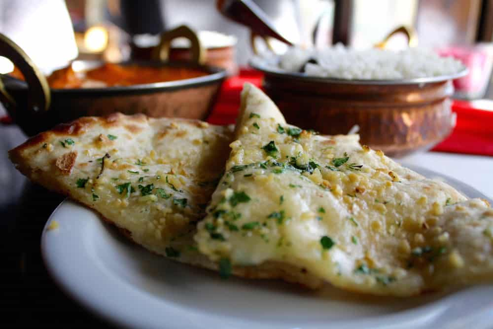 Garlic Cheese Naan at Spice Bistro in Salt Lake City, UT