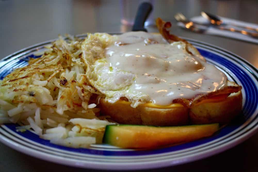 Open Faced Breakfast Sandwich at Britton's in Sandy, Utah