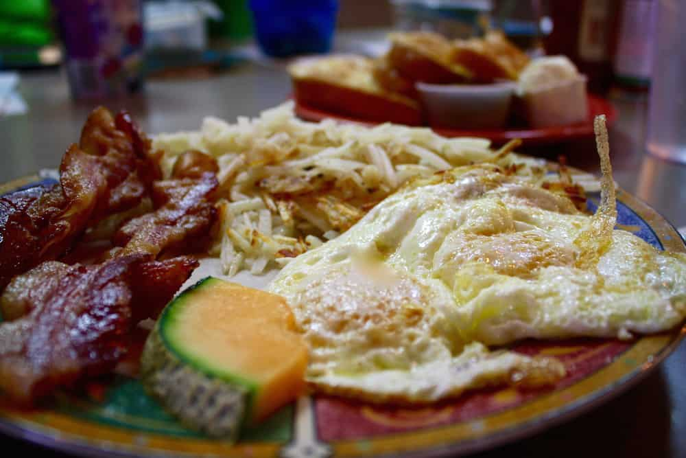 Eggs & hashbrowns at Britton's in Sandy, Utah
