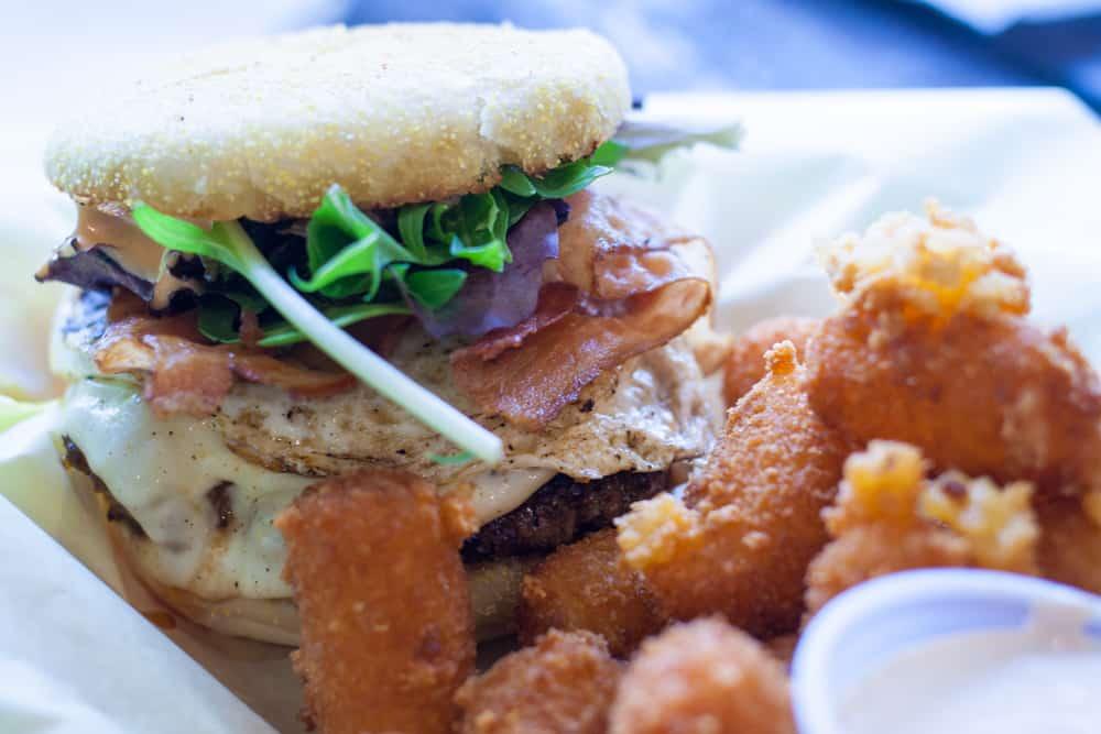 Mother Hen burger at Chedda Burger in Salt Lake City
