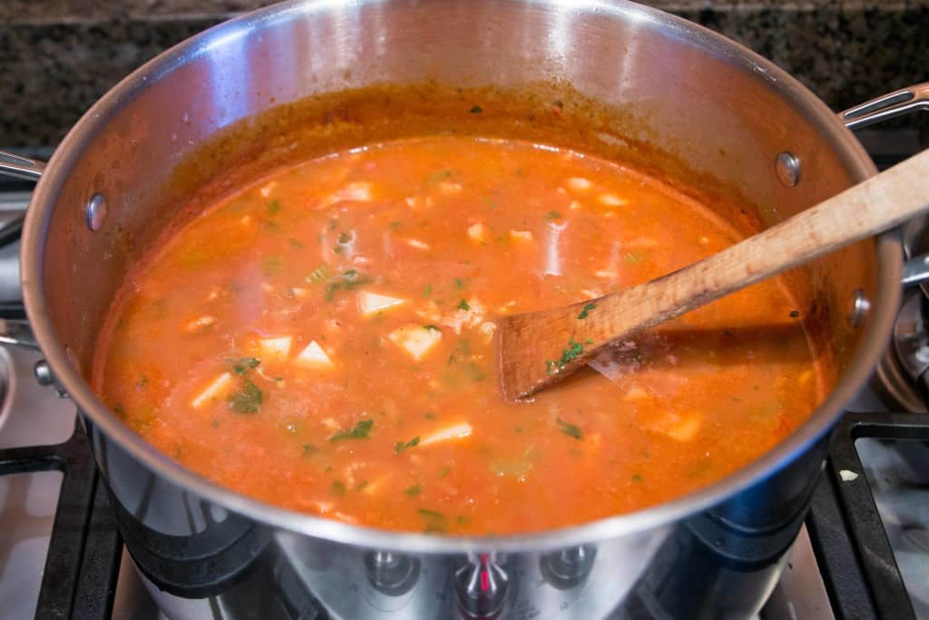 Manhattan Clam Chowder Female Foodie