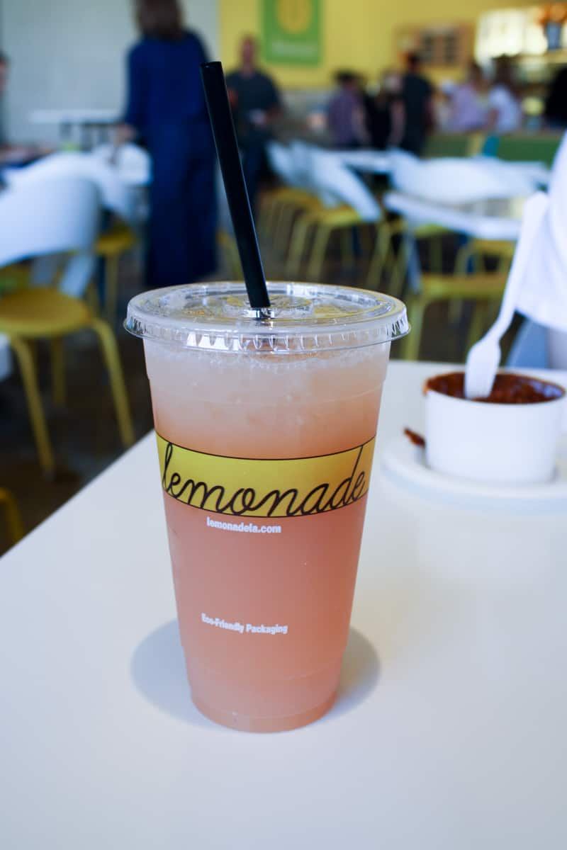 Lemonade at Lemonade in California. Yum!