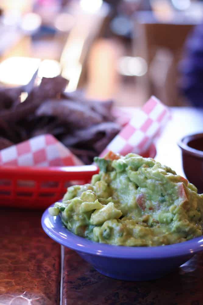 Chips & guacamole at Oscar's Cafe near Zion National Park. Yum!