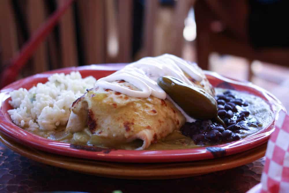 Pork burrito at Oscar's Cafe near Zion National Park. Yum!