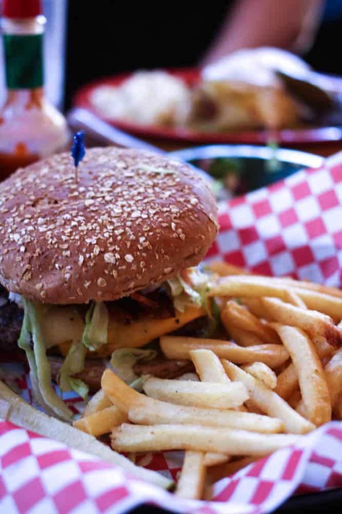 Murder burger at Oscar's Cafe near Zion National Park. Yum!