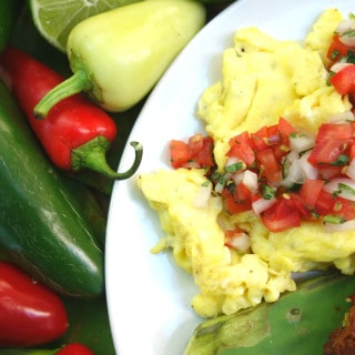 Foolproof Scrambled Eggs with Pico de Gallo