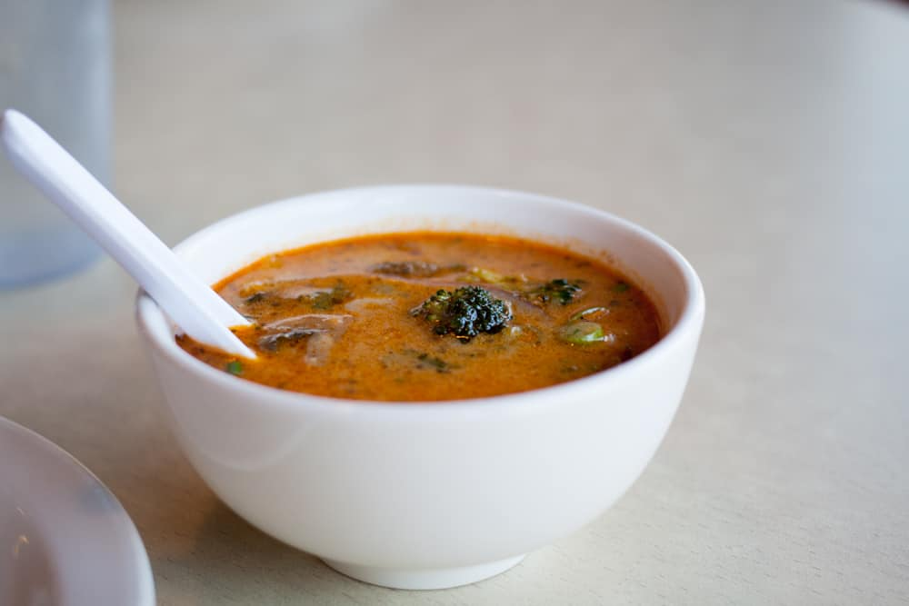 Tom Khaa soup at Thai Sapa near Zion National Park