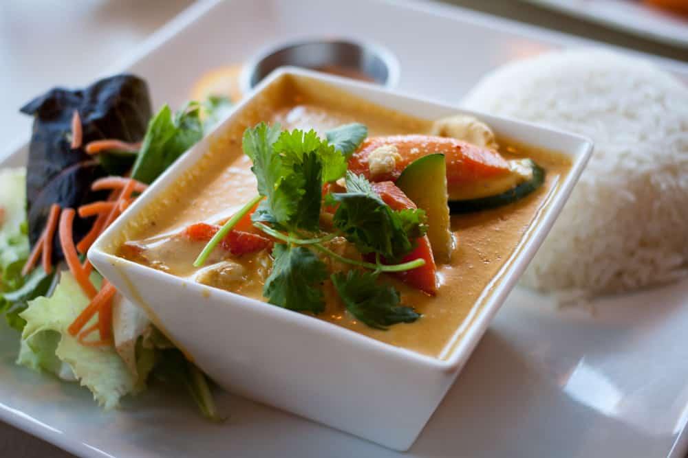 Panang curry at Thai Sapa near Zion National Park