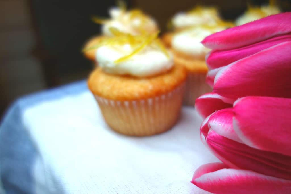 Tulips with Lemon Cupcakes Right