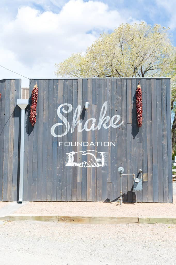 The Shake Foundation in Santa Fe, New Mexico. High quality fast food, where EVERYTHING is made to order!