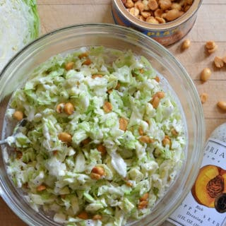 Three Ingredient Peanut Poppy Seed Coleslaw
