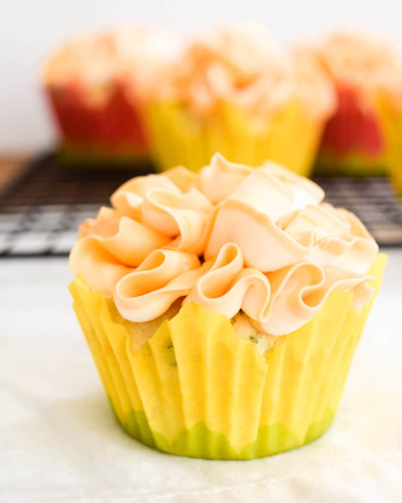 Basil Cupcakes with Grapefruit Icing