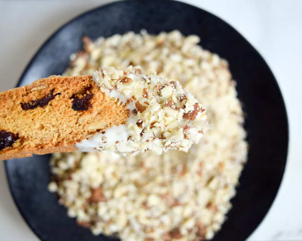 Almond cranberry biscotti: the PERFECT addition to morning tea
