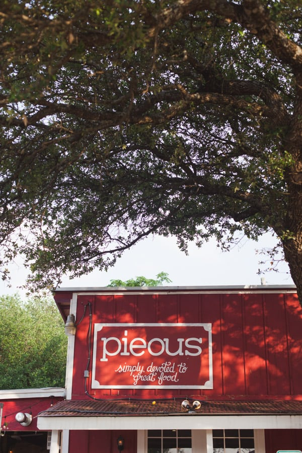 Pieous in Austin, Texas! An adorable little red building that serves scratch-made Neapolitan pizza, sandwiches, pastrami & sweet pies.