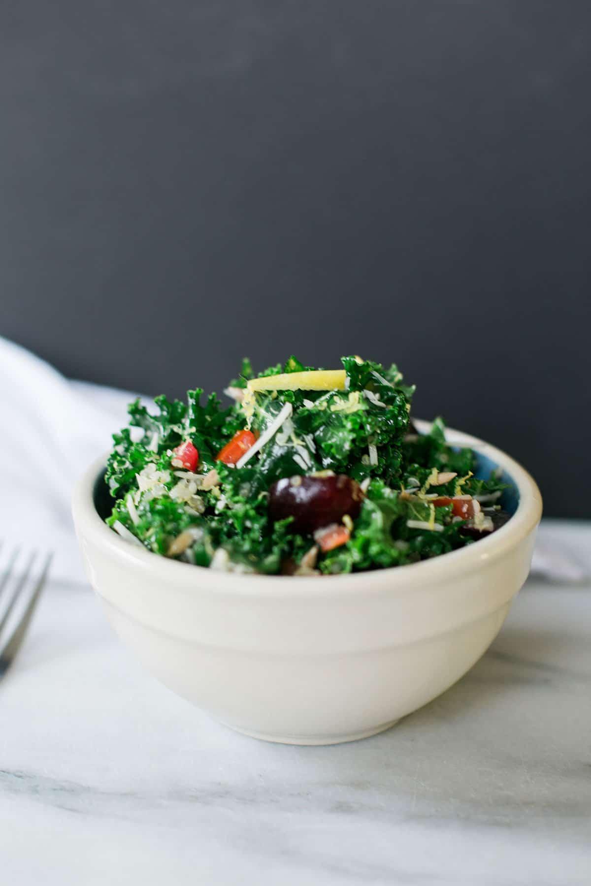 Chelsea S Kitchen Kale Salad Recipe Hack Female Foodie