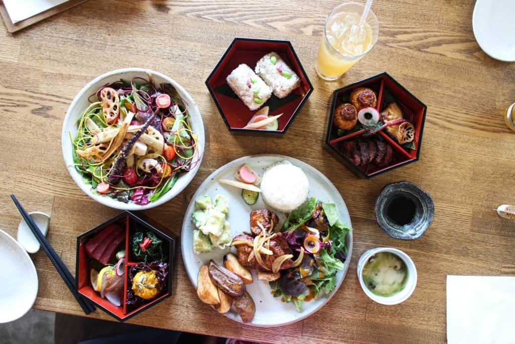 Necco in Los Angeles is veggie, vegan, and gluten-free friendly, meant for everyone and serves some of the most beautiful and eclectic Japanese plates in all of LA.