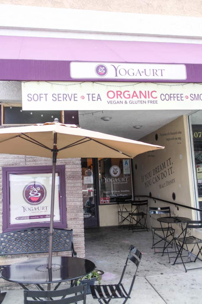 Yoga Urt in Glendale, California just 30 minutes outside of Los Angeles. Is it possible to have a vegan, organic, gluten-free, soy-free, kosher frozen yogurt and still taste just as good as regular froyo? YES. Yoga-Urt in Glendale's Kenneth Village allows you to treat yourself to some delicious, creamy frozen yogurt that is all of the above with several organic topping options that you can't get anywhere else.