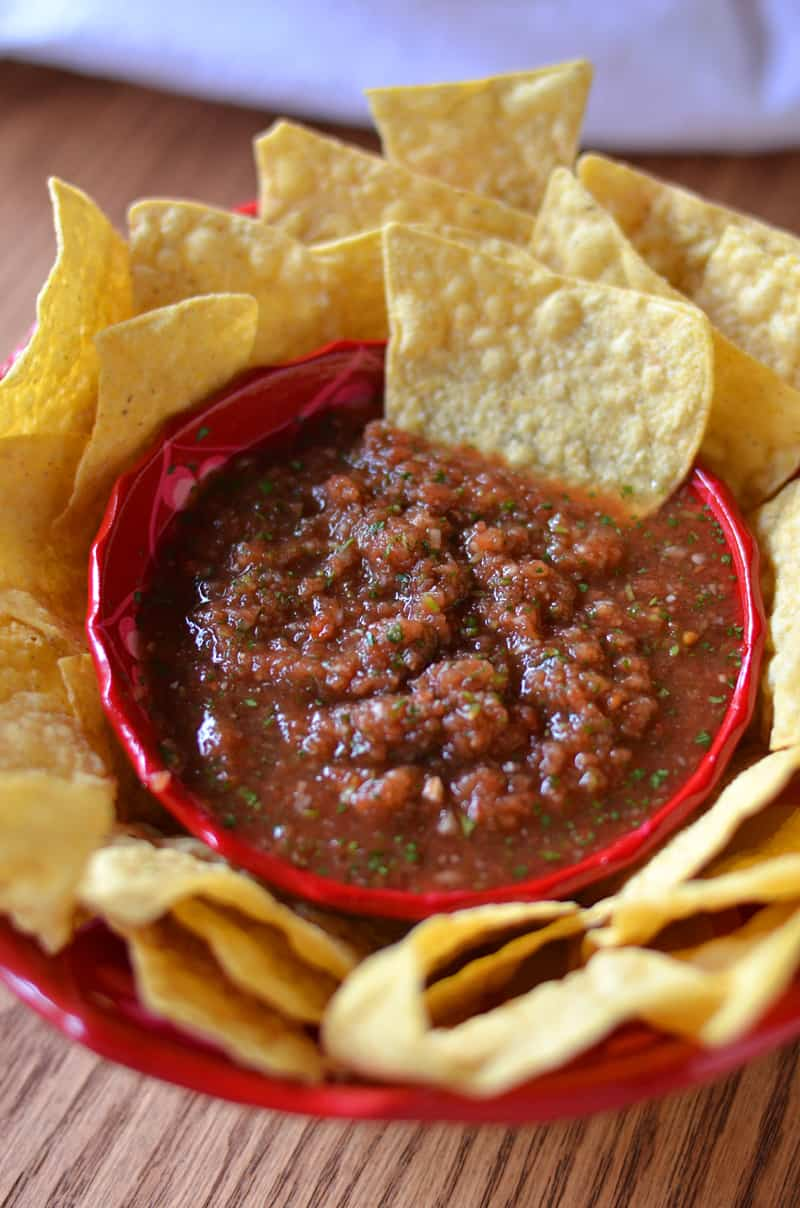 This classic restaurant style salsa is the only recipe for salsa you'll ever need.