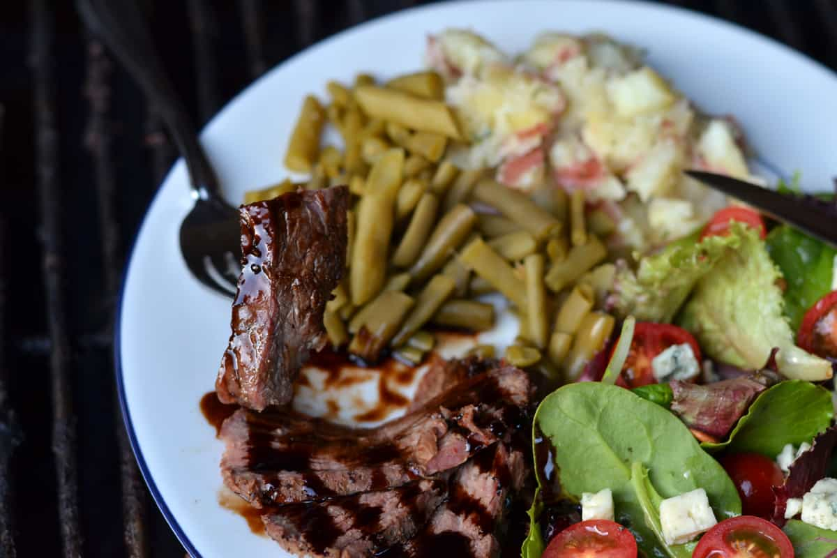 Grilled Flank Steak with Balsamic Glaze | Female Foodie