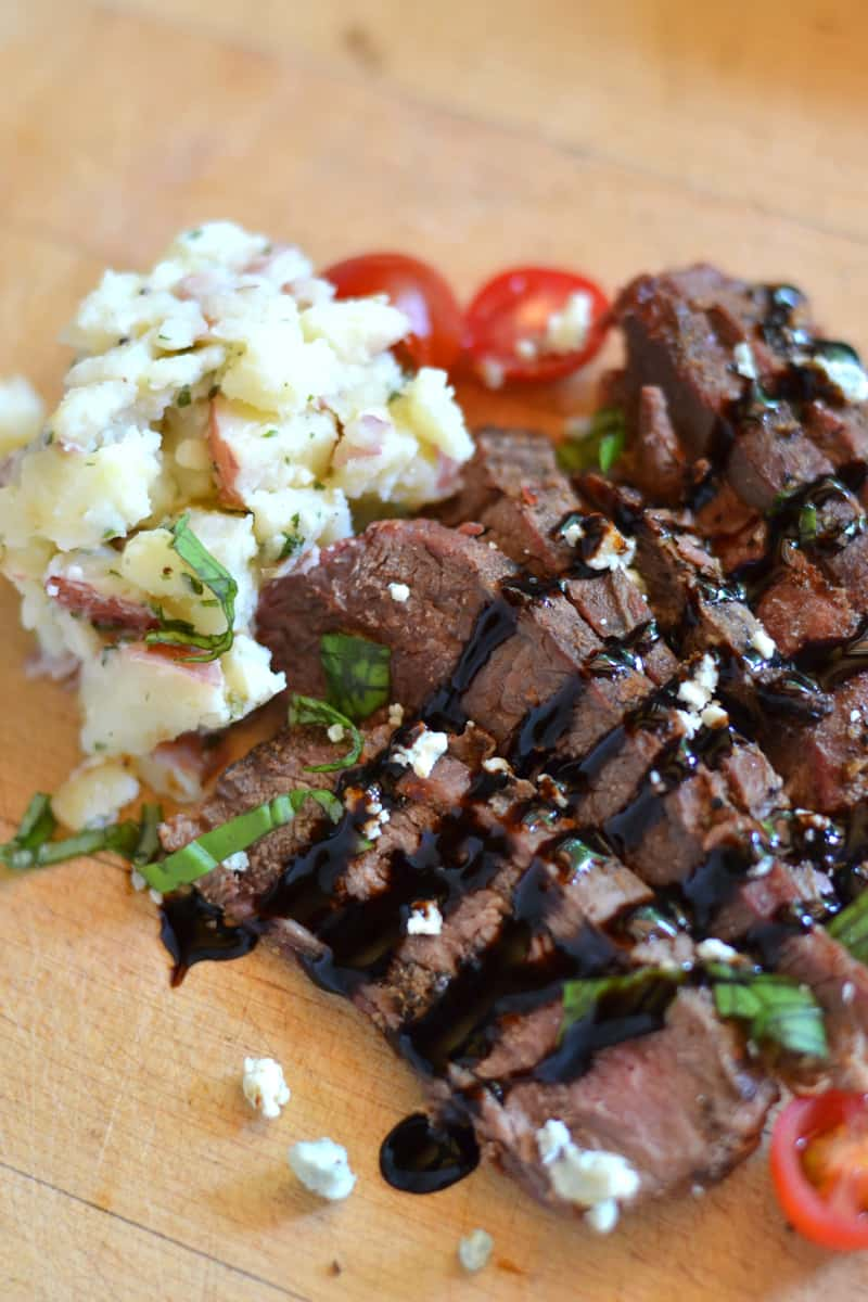Grilled Flank Steak with Balsamic Glaze-a perfect meal for dad