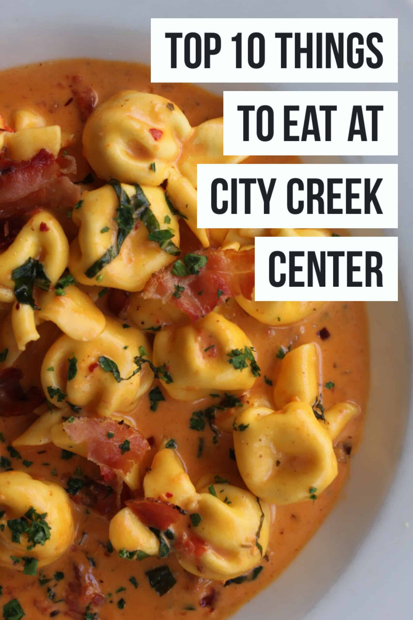 Top 10 Things To Eat At City Creek Center in Salt Lake City, Utah! A MUST READ blog post for your next trip to City Creek in SLC. Full post at femalefoodie.com!