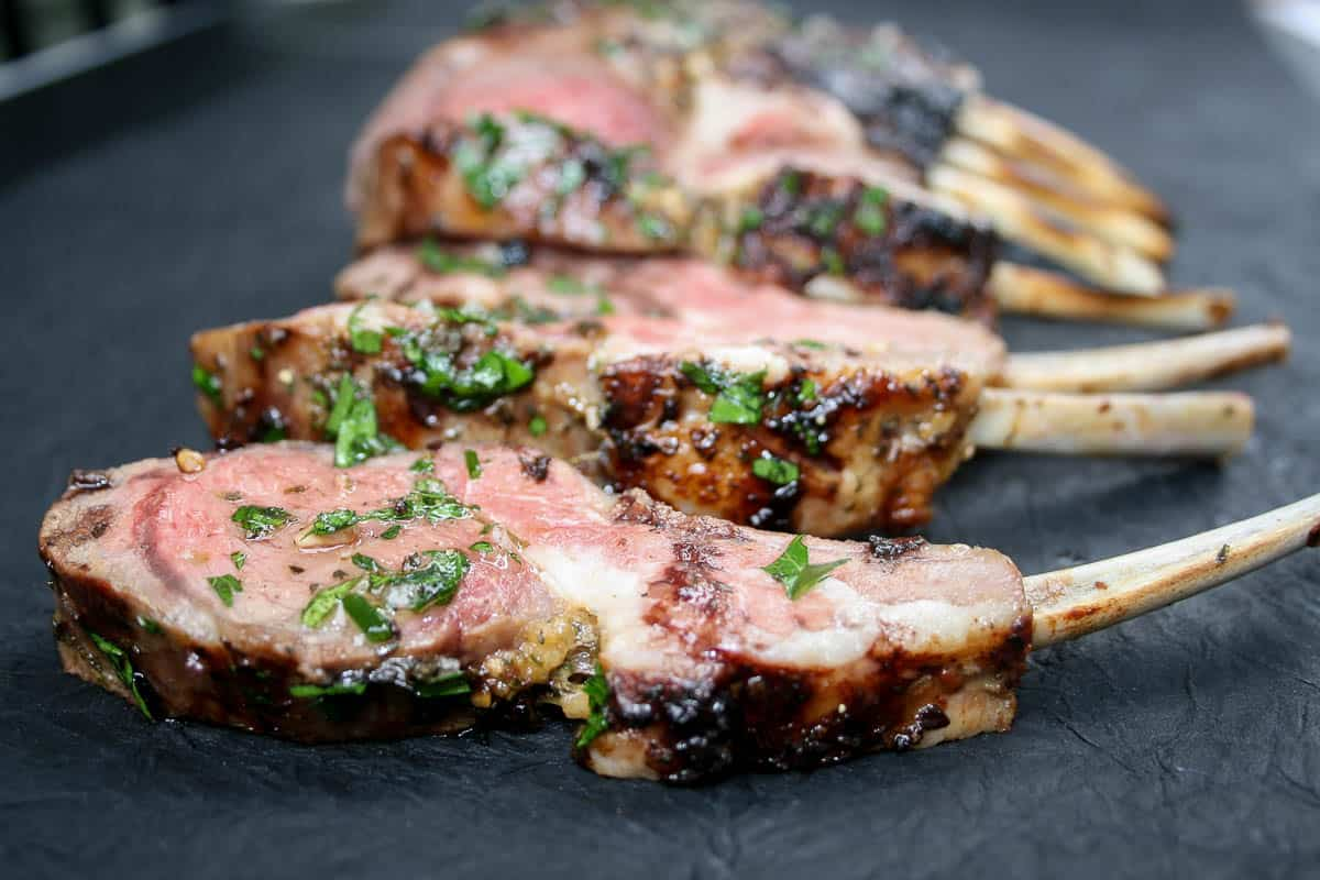 Grilled Rack of Lamb: an easy, delicious way to prepare rack of lamb!