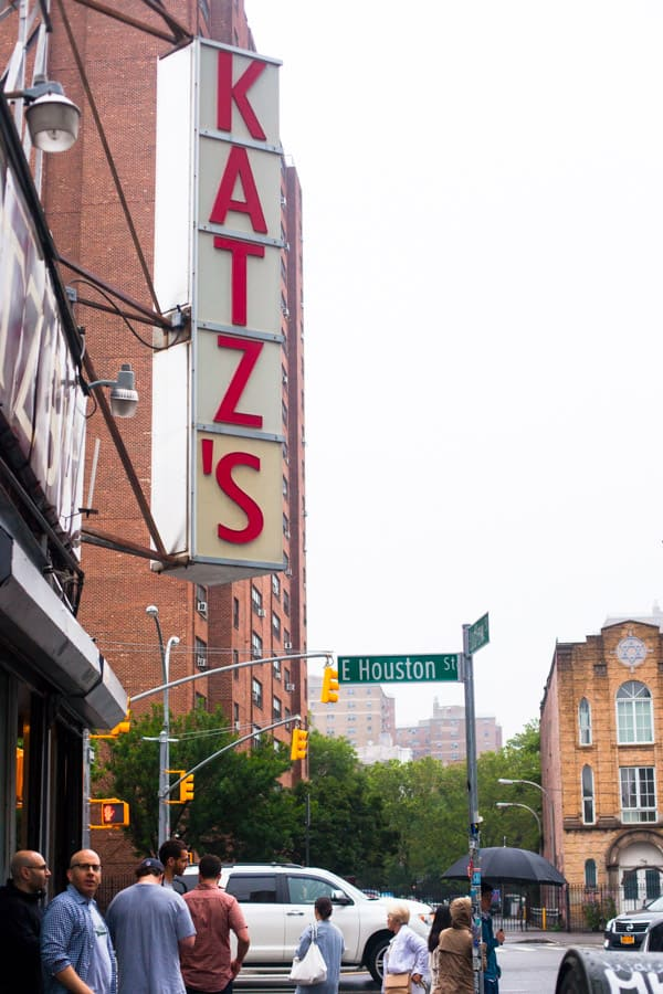 Katz's Delicatessen in New York City: serving some of the BEST sandwiches in the entire city. Don't forget to try the pastrami, corned beef, and the knish. Full review at femalefoodie.com!