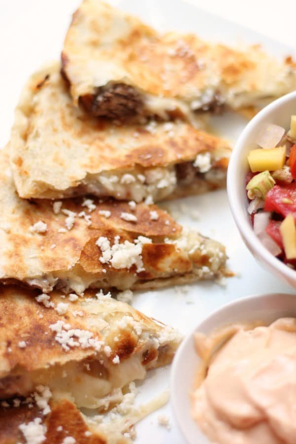 Short Rib Quesadillas from TLT Food in Los Angeles, California
