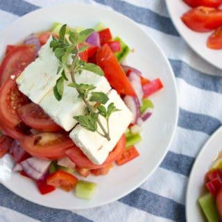 Fresh and Easy Greek Horiatiki Salad