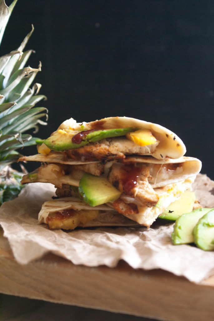 Grilled Chicken and Pineapple Quesadilla | Female Foodie