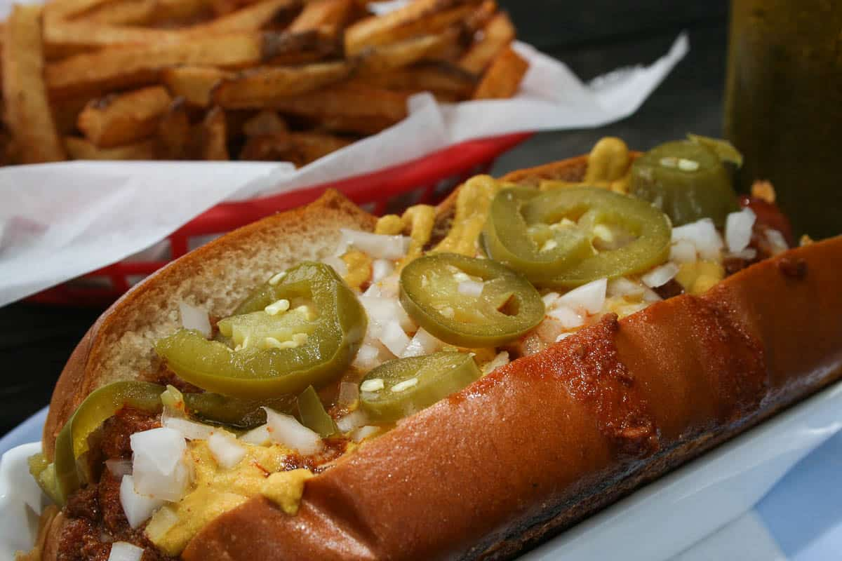 Good Dog, Hot Dog, Houston, Houston Heights, Chili Dog