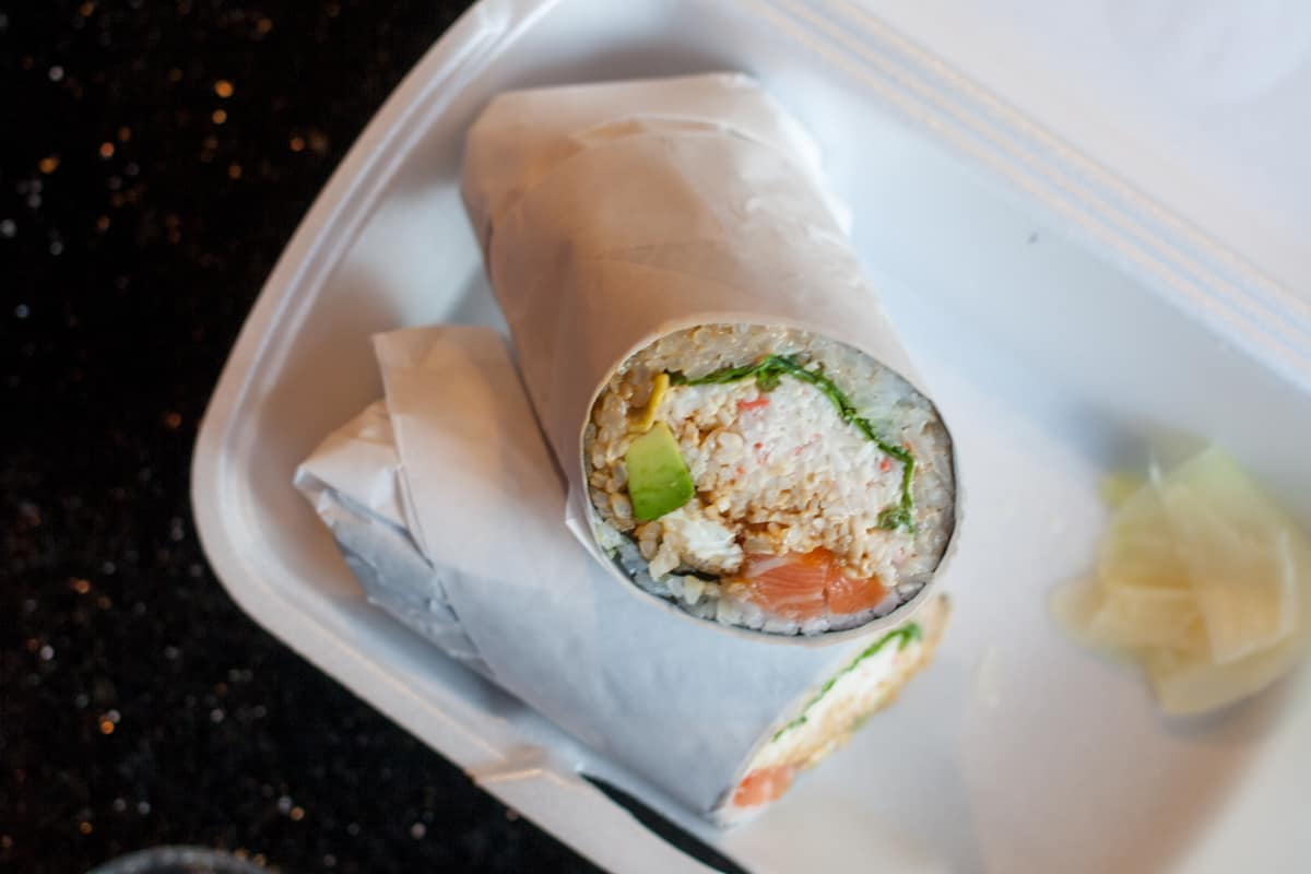 Sumo Burrito in Salt Lake City. Sushi but in a burrito! I need to try this!