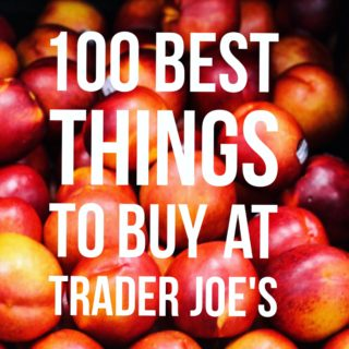 100 BEST THINGS TO BUY AT TRADER JOE'S! A full post top to bottom of our favorite things to throw in that grocery cart while you're perusing the isles at our favorite neighborhood grocery store. Full post at femalefoodie.com!