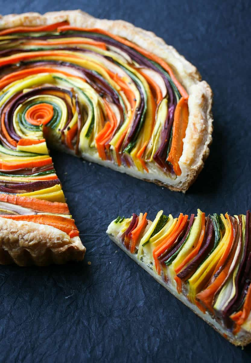 A savory seasonal tart to use up those extra summer vegetables! Find full recipe at femalefoodie.com.