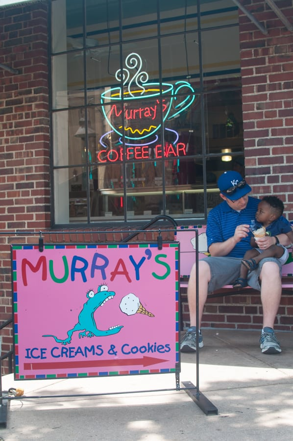 Looking for a great way to cool off? Look no further than Murray's Homemade Ice Creams! With homemade waffle cones, cookies, and the BEST flavors, you'll be happy to have a cold and tasty cone in your hand this summer.