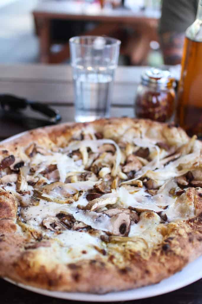 Portland - Life of Pie Pizza - Seasonal Mushrooms with Shaved Pecorino Romano and Truffle Oil