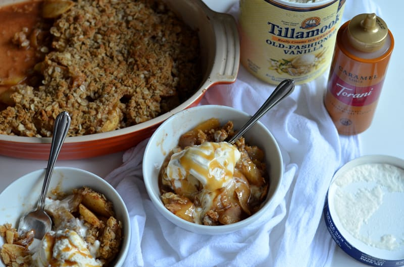 This One-bowl Apple Crisp is the perfect, quick and easy fall dessert that will leave your stomach happy and your house smelling wonderful.
