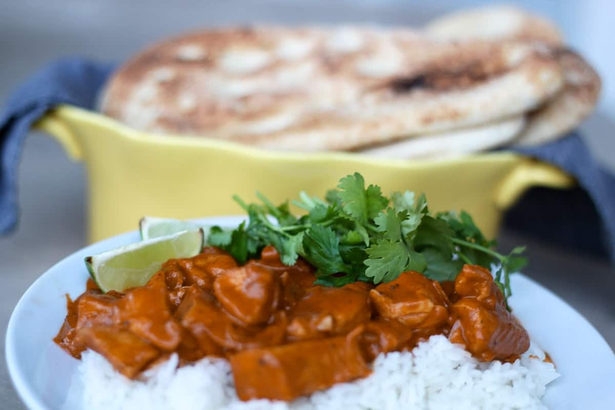 This is my favorite, go-to recipe for easy Indian butter chicken!