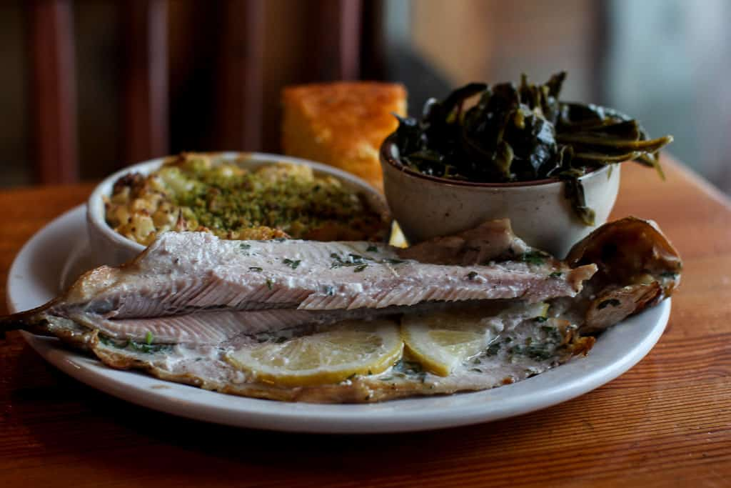 Podnah's Pit BBQ is located in Northeast Portland, with a friendly, old-soul vibe and the food is absolutely first rate. Read our full review for details!