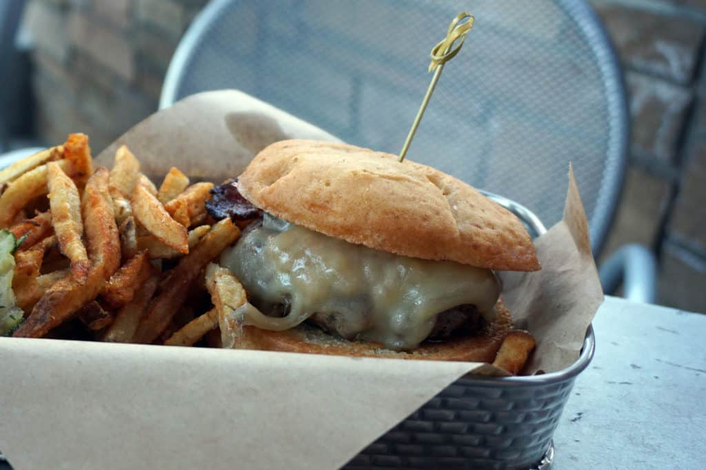 Highlan Tap & Burger is a lively bar and grill serving gourmet burgers and duck fat fries.