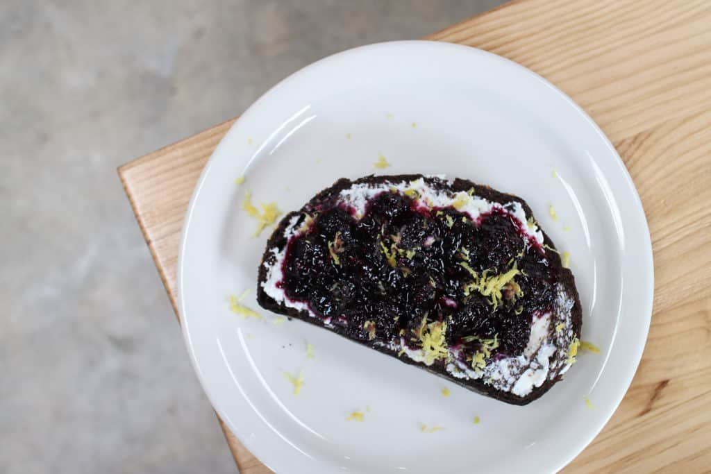 Rabbit Crew LA | Los Angeles | femalefoodie.com | Blackberry Ricotta Toast