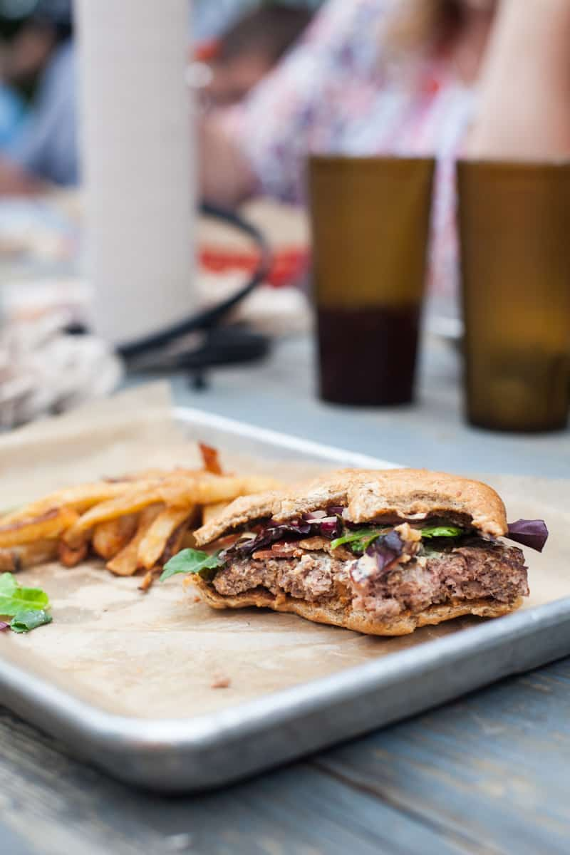 San Antonio: The Cove. Sustainable, organic, local burgers, tacos and salads.