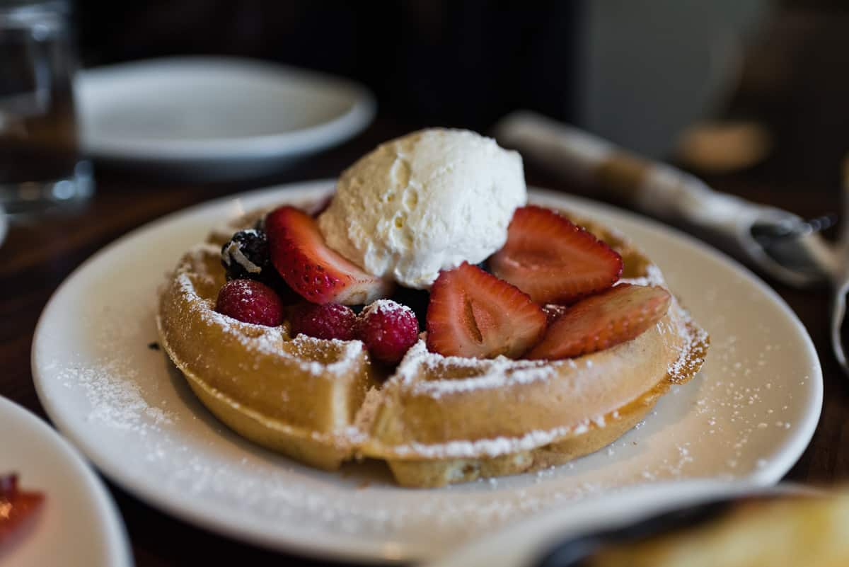 Top 8 spots for breakfast & brunch in Orange County. Plum's Cafe in Costa Mesa serves delicious breakfast and brunch dishes with Pacific Northwest flair. Full post at femalefoodie.com.