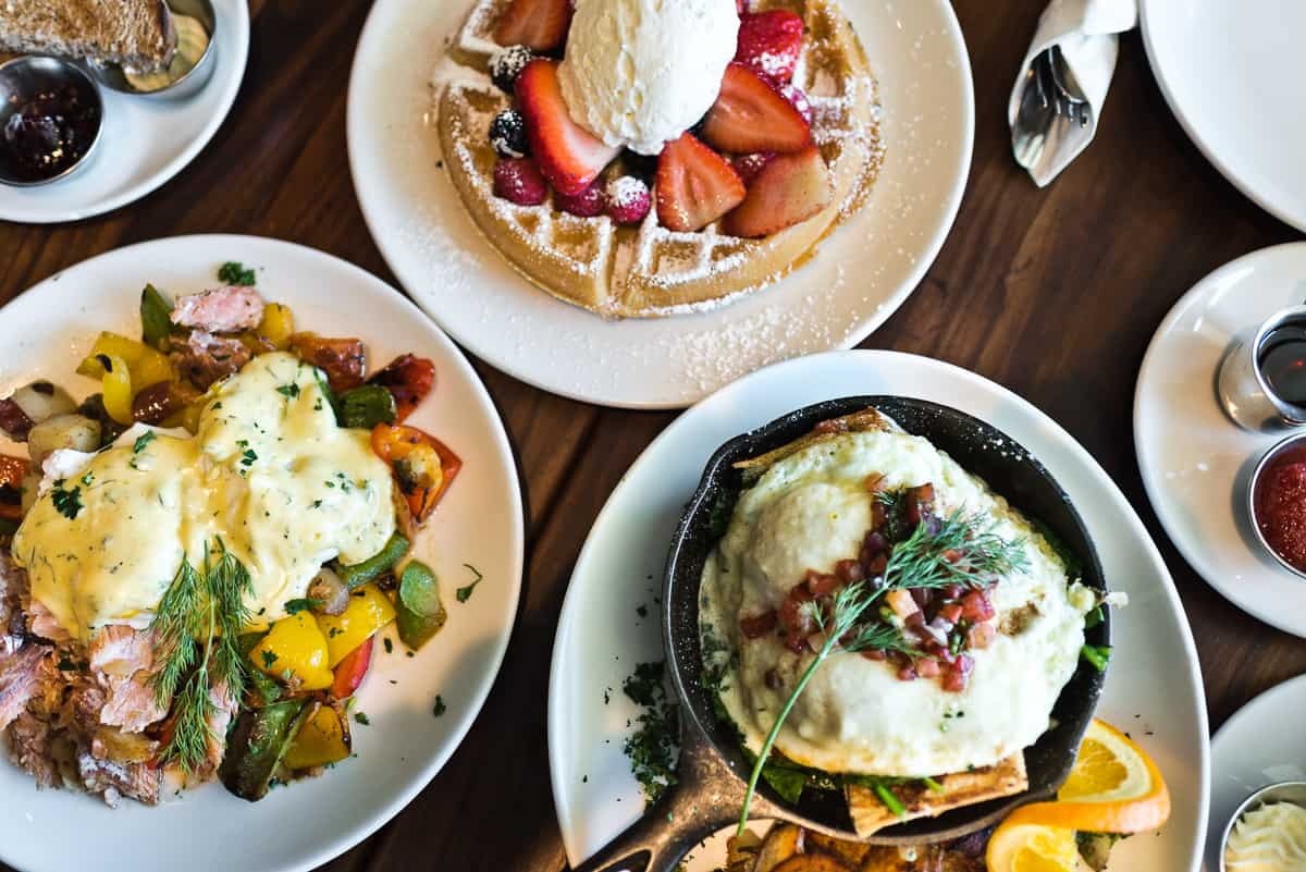 Top 8 spots for the best breakfast & brunch in Orange County. Plum's Cafe in Costa Mesa serves delicious breakfast and brunch dishes with Pacific Northwest flair. Full post at femalefoodie.com.