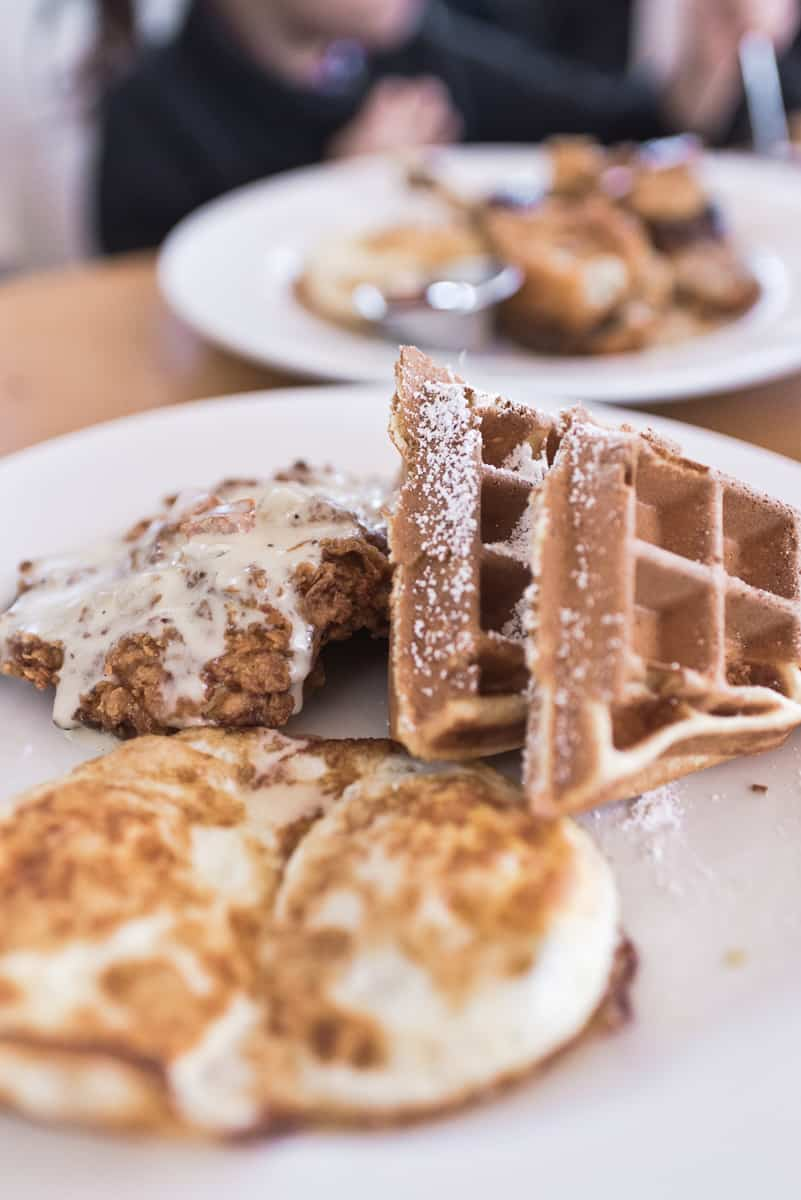 Top 8 spots for the best breakfast & brunch in Orange County. Memphis Cafe in Costa Mesa serves delicious and hearty Creole-inspired breakfast and brunch fare. Full post at femalefoodie.com.