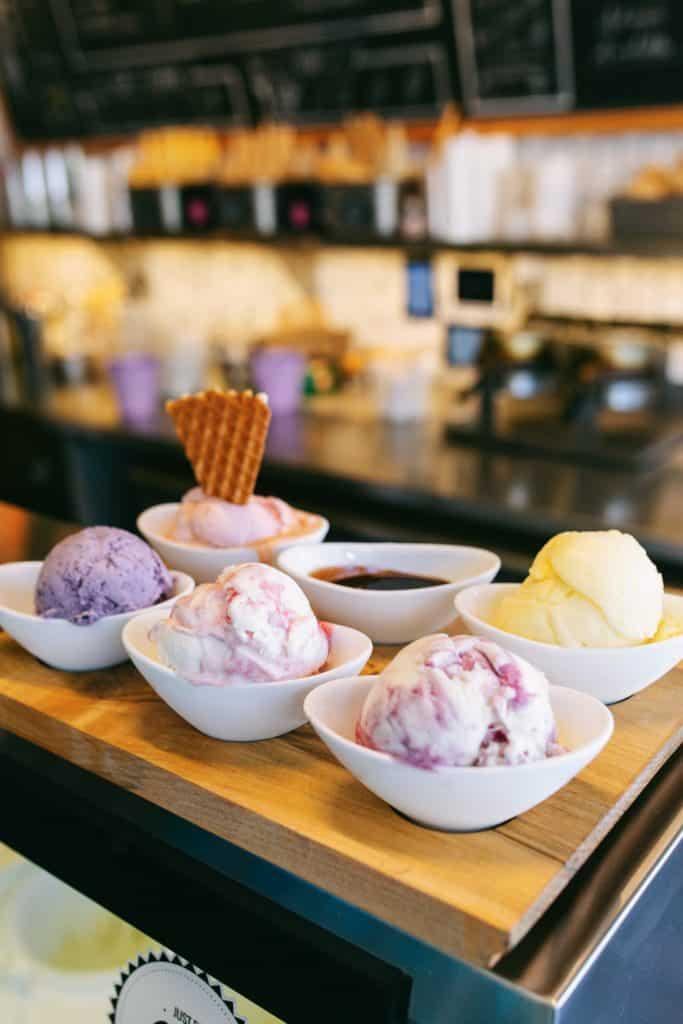 Ice Cream Flight by High Point Creamery