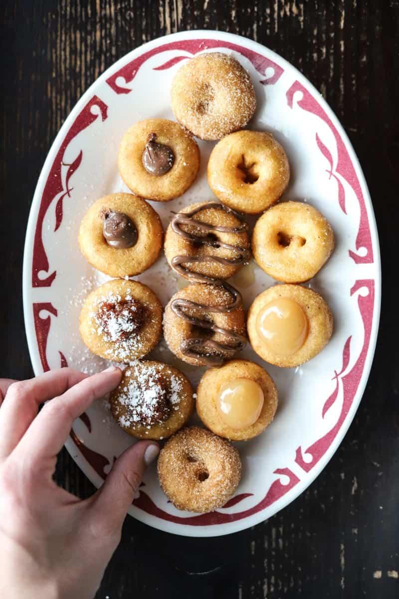miniature donuts from Pip's Original in Portland
