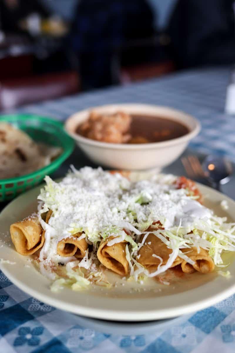 tacos from Las Cuatro Milpas