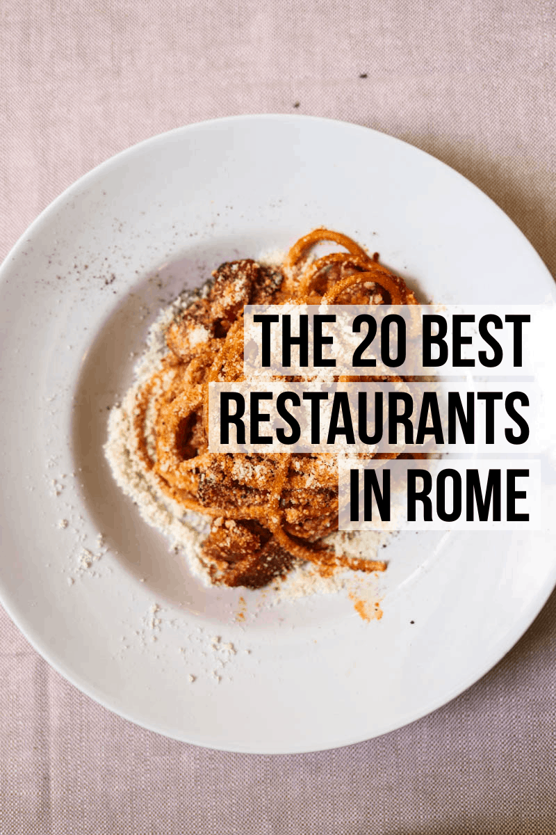 The ultimate guide to the 20 best Rome restaurants featuring classic Roman specialties like pizza al taglio, bucatini alla amatriciana, cacio e pepe, and so much more.